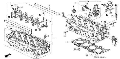 Honda online store : 2002 civic cylinder head (vtec) parts