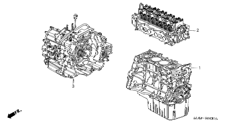 Honda online store : 2001 civic engine assy