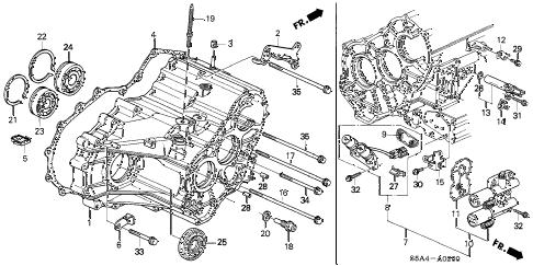 2001 Honda Civic Transmission Diagram