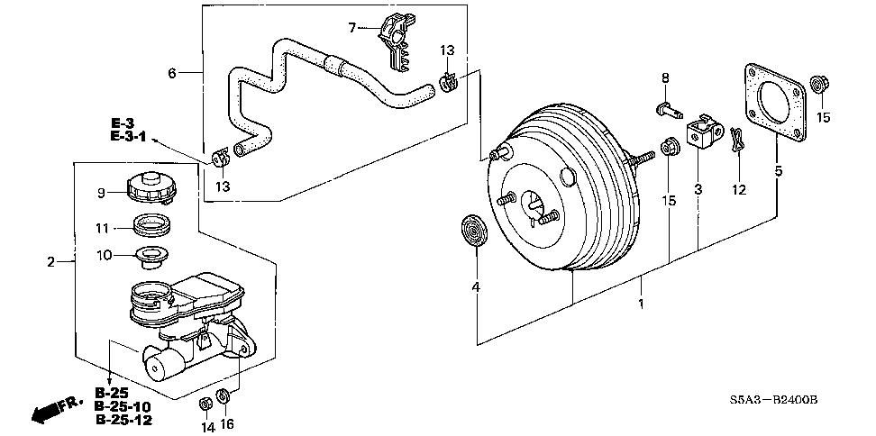 Honda online store : 2002 civic brake master cylinder