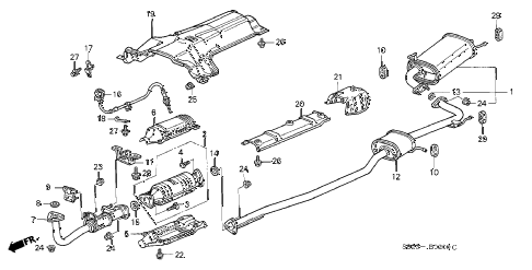 Honda online store : 2002 accord exhaust pipe parts