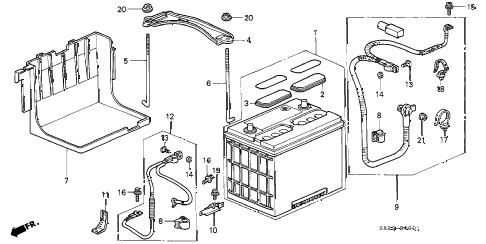 Honda online store : 1999 accord battery (v6) parts