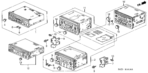 Honda online store : 1999 accord auto radio parts