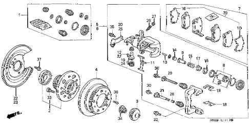 Honda online store : 2000 accord rear brake (disk) (v6) parts