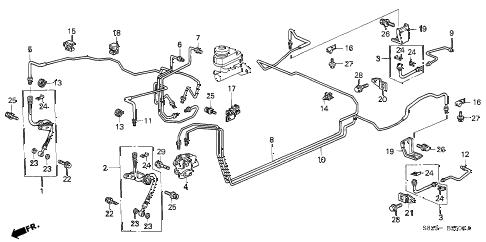 Honda online store : 1999 accord brake lines parts