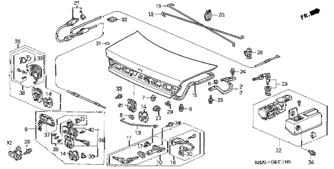 Honda online store : 2000 accord trunk lid parts