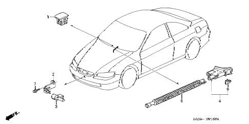 Honda online store : 2000 accord sensor parts