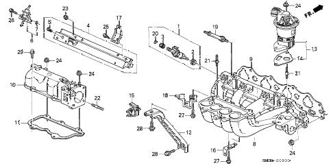 Honda online store : 2002 accord intake manifold parts