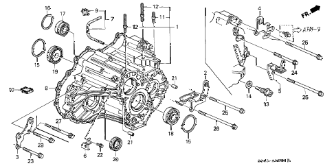 Honda online store : 1998 accord at transmission housing parts