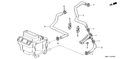 Honda online store : 1999 accord water valve (v6) parts