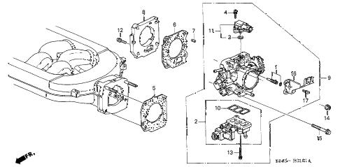 Honda online store : 2002 accord throttle body (v6) parts
