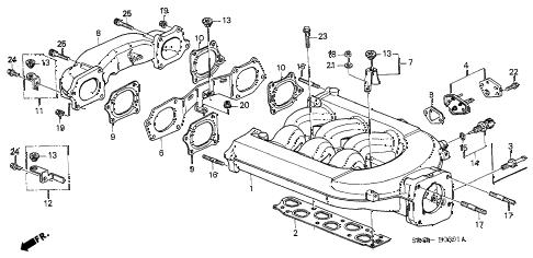 Honda online store : 1999 accord intake manifold (v6) parts