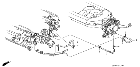Honda online store : 2000 accord water hose (v6) parts