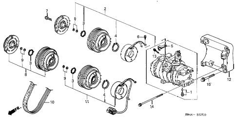 Honda online store : 2002 accord a/c compressor (v6) (2) parts
