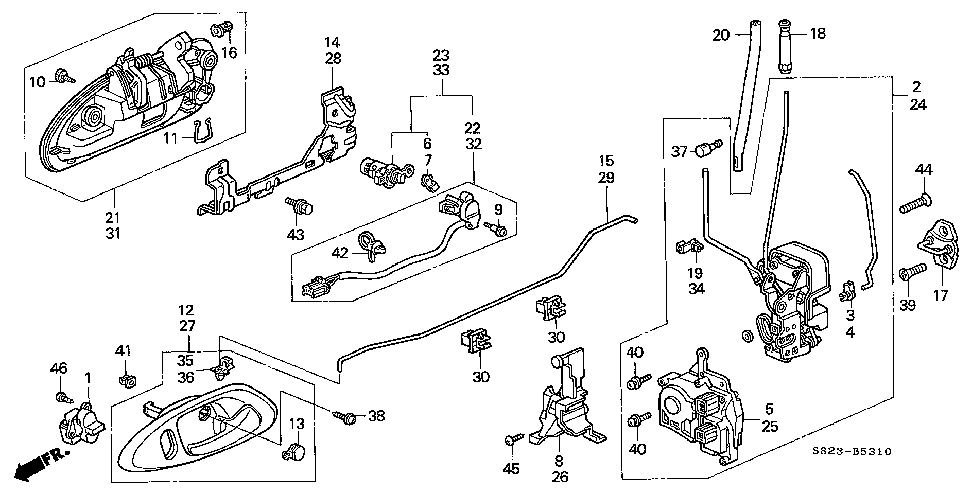 diagram for 2000 honda accord door wiring light 72115 s84 a11 actuator assy lock bernardi parts