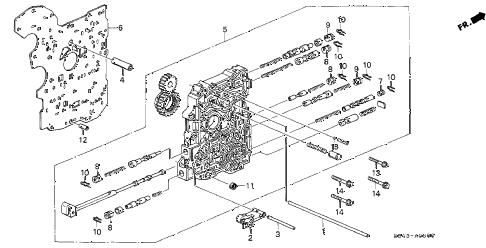 Honda online store : 2000 accord at main valve body parts