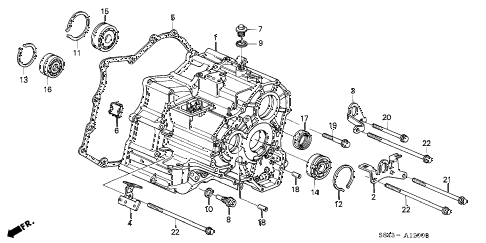 Honda online store : 1999 accord at transmission housing