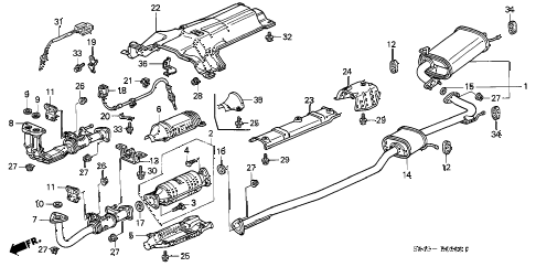 1996 Honda Civic Dx Exhaust Diagram, 1996, Free Engine