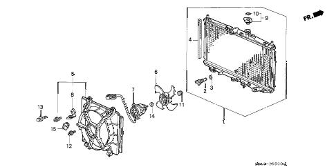 Honda online store : 2001 accord radiator parts