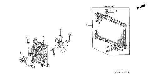 Honda online store : 1999 accord radiator (v6) parts