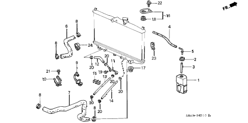 1998 Honda Accord Cooling System Diagram. Honda. Auto