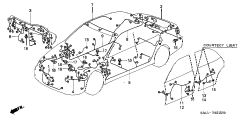 Honda online store : 2001 accord wire harness parts