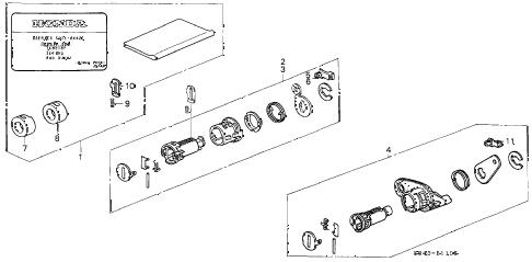 Honda online store : 1999 accord key cylinder kit parts