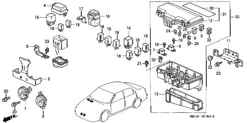 Honda online store : 1998 accord control unit (engine room