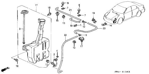 Honda online store : 2001 accord windshield washer parts