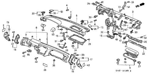 Honda online store : 1998 accord instrument panel parts