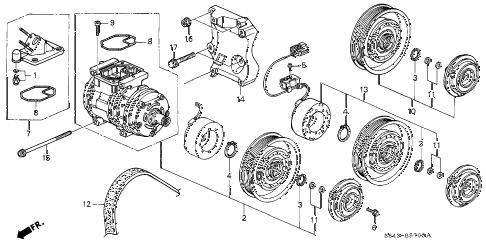 Honda online store : 2001 accord a/c compressor parts