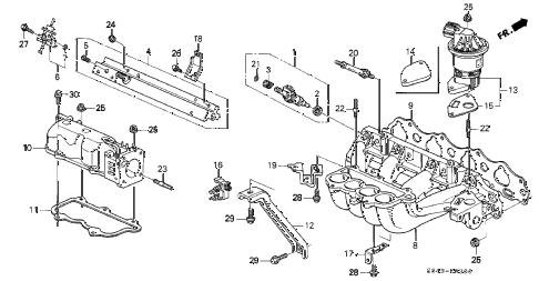 Honda online store : 1999 accord intake manifold parts