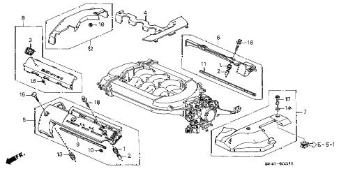 Honda online store : 1999 accord intake manifold cover (v6