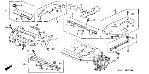 Honda online store : 2000 accord intake manifold cover (v6