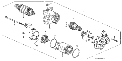 Honda online store : 1998 accord starter motor (denso) (l4