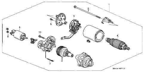 Honda online store : 2000 accord starter motor (mitsuba