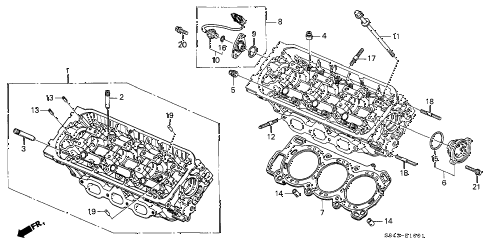 Honda online store : 1999 accord front cylinder head (v6