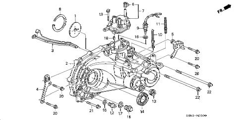 Honda online store : 2000 accord mt transmission housing parts