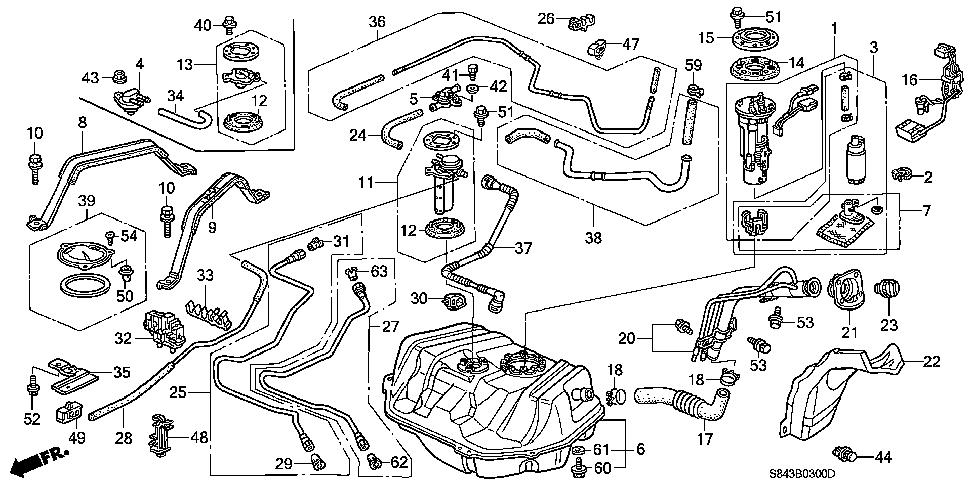 Honda online store : 1999 accord fuel tank parts