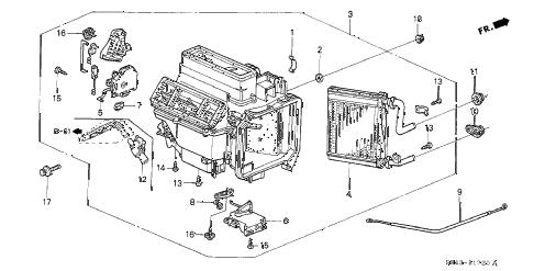 Honda online store : 2002 accord heater unit parts
