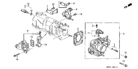 Honda online store : 2002 accord throttle body parts