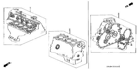 Honda online store : 2002 accord gasket kit parts