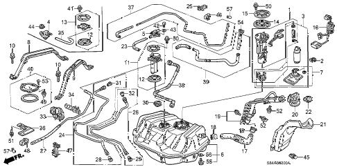 Honda online store : 2002 accord fuel tank parts