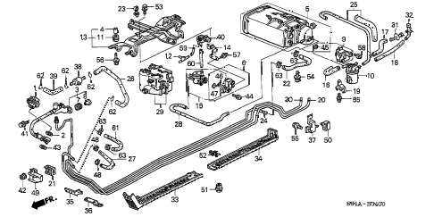 Honda online store : 2002 accord fuel pipe parts
