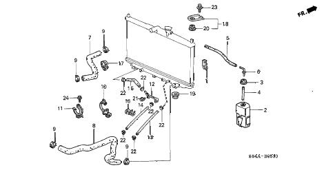 Honda online store : 2002 accord radiator hose parts