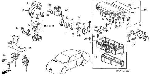 Honda online store : 2002 accord control unit (engine room