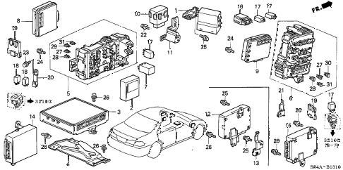 Honda online store : 2002 accord control unit (cabin) parts