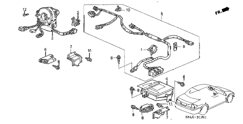 Honda online store : 2002 accord srs unit (side srs) parts