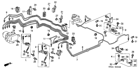 Honda online store : 2002 accord brake lines (v6) (abs) parts