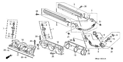 Honda online store : 2002 accord fuel injector (v6) parts